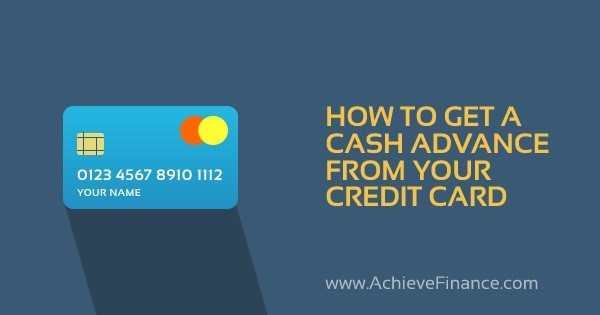 How to Get a Cash Advance From Your Credit Card